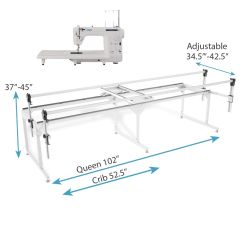 Juki TL2010Q Midarm Quilting Machine with Grace Q-Zone Queen Size Quilting Frame Combo