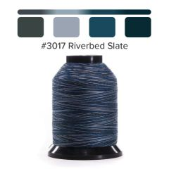 Grace Finesse Variegated Quilting Thread Riverbed Slate #3017