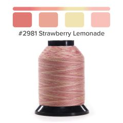 Grace Finesse Variegated Quilting Thread Strawberry Lemonade #2981