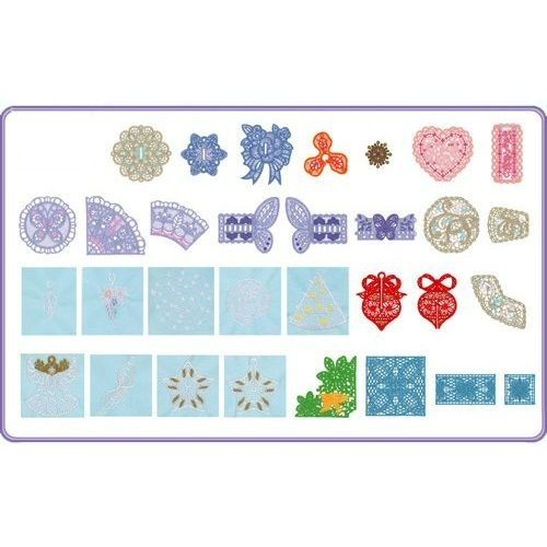 Brother SA378 No 78 Combination Lace Embroidery Card