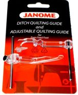 Janome Adjustable Ditch Quilting Guide Set for Even Feed