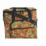 Hemline Embroidery Unit and Notions Bag in Burgundy Floral