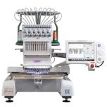 SWF MAS 12 Needle Commercial Embroidery Machine with Bonus Value Package